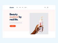 The Glossier landing page interaction design