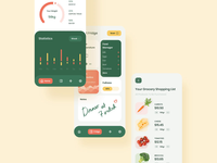 Smart Nutrition mobile app interaction design healthcare food healthy food interactiondesign motiongraphics interaction animation android typography button illustration ios motion animation mobile ux ui