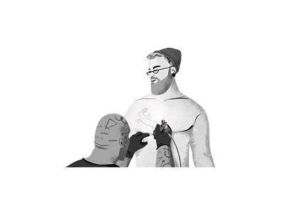 Tattoo Artist website landing page design interaction uxui interface user interface black  white tattoo artist interface designer interaction design motion graphic landing page design ux branding mobile interaction typography illustration motion animation design ui