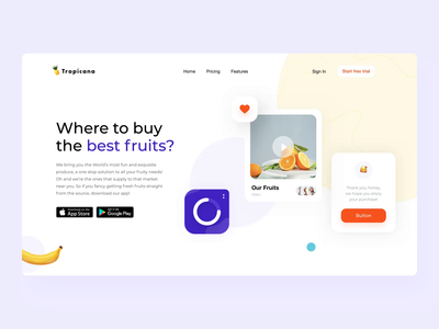 Tropicana landing page motion interaction set emoji graphic motiongraphics button shopify delivery fruitsartclub motion graphic ux design interactions motion design uxui uxdesign fruits interaction animation interaction motion ux ui