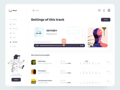 The Bequt UI dashboard button typography sound music illustration dashboard design designs designer uiux dashboard ui design ux ui