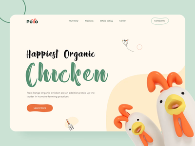 Pollo chicken farm landing page interaction landing page design farming illustrations chicken interaction design motion design cinema4d 3d illustration landing page animation user experience userinterface landingpage design ux ui