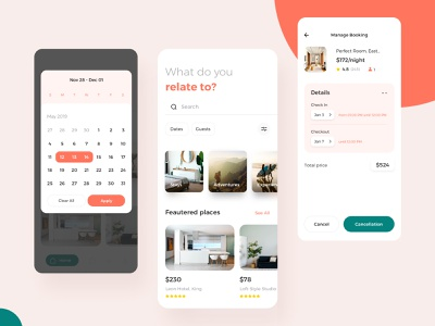 House Booking UI8 mobile KIT button green red iphone uidesign user interface design userexperience designer userexperiencedesign android ios rent house bright mobile user experience userinterface design ux ui