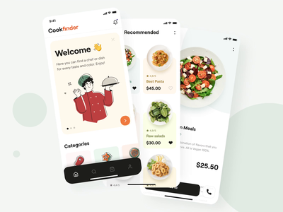 The cookfinder app interaction video gif animated interface cook userinterface interaction design motion design mobile design app android interaction motion ios illustration mobile animation design ux ui