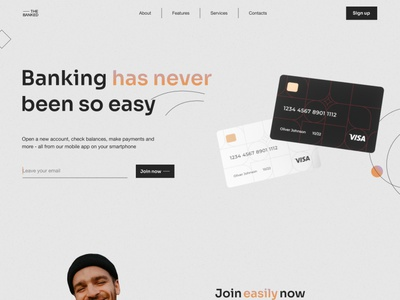 The banked landing page interaction