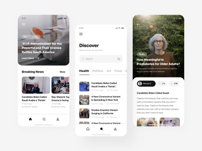 News iOS mobile app android app design modern mobile ui mobile app design android app mobile app latest news applications newsfeed news app application design news application ui app design application app mobile ux design ui