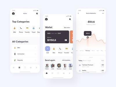 Spending control mobile app design payment screens ux  ui uxui card bankcard bank user experience user interface mobile application mobile design mobile app uiux userinterface mobile ui ios mobile design ux ui