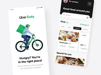 Uber eats mobile concept mobile design animations motion design interaction design bike food userinterface app design mobile app app android ios motion interaction animation illustration mobile design ux ui
