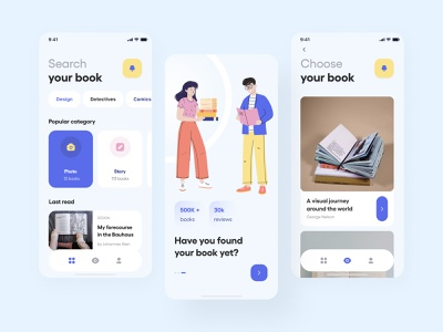 The books reading app search appdesign app mobile ui ios android uxui reading figma books userinterface ux  ui application mobile ui  ux user interface design user interface user ux ui