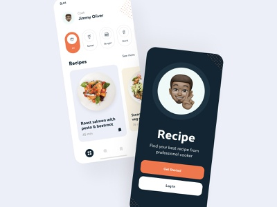 The Recipe app design application design ui design uidesign user interface application ui mobile app mobile design screens mobile applications applicaiton app mobile app design application app design ios app ios ux design ui