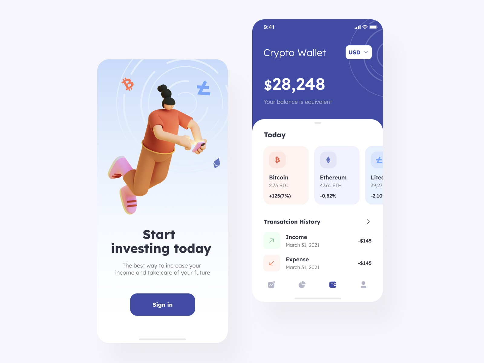 The Investing app design by Taras Migulko on Dribbble