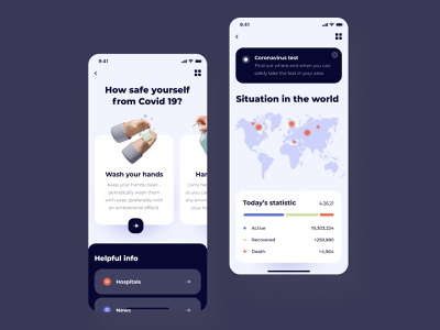 Covid ios mobile app statistic android app design android app mobile design uidesign ui  ux user interface ui design mobile ui mobile app design mobile app design app app design covid application app ios mobile design ux ui
