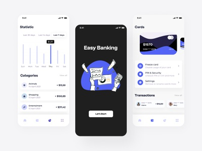 Easy banking mobile application android app mobile app application design ui design uidesign user interface userinterface application ui applications ios app android ios mobile ui application app design app mobile ux design ui