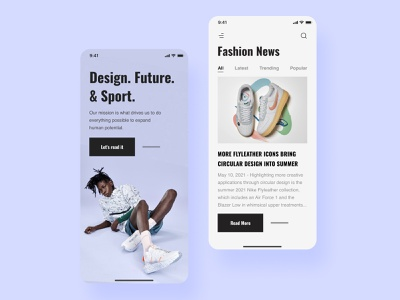Nike mobile app news concept android ios mob user experience user interface screens mobile app mobile app design appdesign application design app design ui app mobile ux