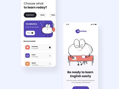 The Brainbob mobile app design app mobile app design screens android ios appdesign application app mobile illustration ux design ui