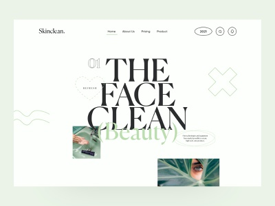 Skinclean website design beautiful landing page ui landing page design web design site user experience user interface home page ux home page ui beauty home site home page design landing website website design web design ux ui