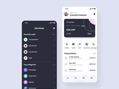 Finance mobile app wallet bank app cart bank card card design card finance android design android app android app design ios app design ios app ios android mobile ui mobile ux mobile design ux ui