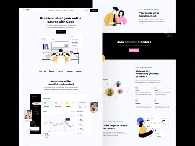 Caps Lock product page design home product page landing landing page design landing page home page dashboard website design website web product page design ux ui