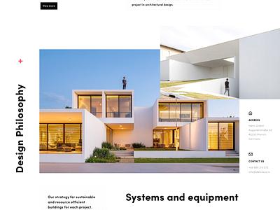 Délicieux landing minimal landing page architechture exterior design flat  design ux typography flat web ui