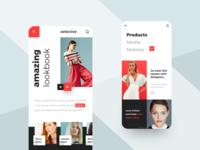 Fashion lookbook mobile