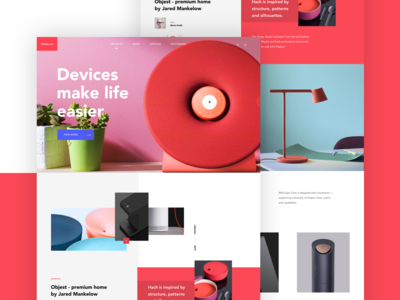 The Diseño landing page