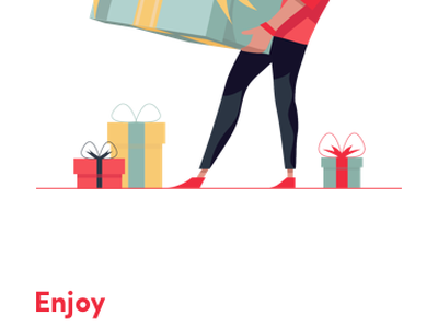 e-commerce  illustrated mobile onboarding animation android motion animation mobile animation discount button mobile app screen onboarding branding iphone x ios flat mobile vector illustration typography design ux ui