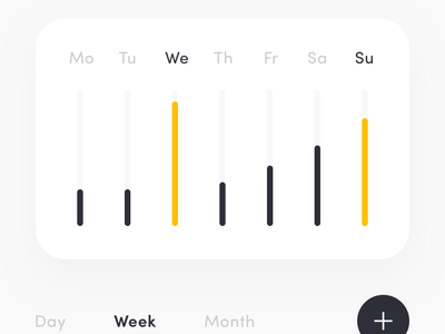 Sport activity dashboard application ios android mobile app chart user button app application motion animation sport yellow red dashboard graph iphone x data mobile design ui