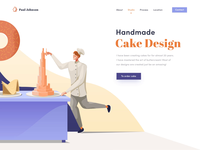 Cake Design creator web site interaction illustration