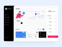 Cryptocurrency Dashboard with illustration
