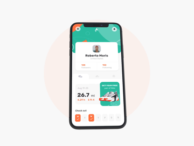 Strava + Nike concept interaction sport activity app