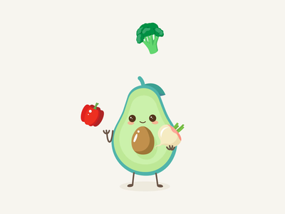 Avocado loader interaction avocado preloader loader loading jogging cartoon fun vegitable healthyfood interaction illustration motion animation healthy health