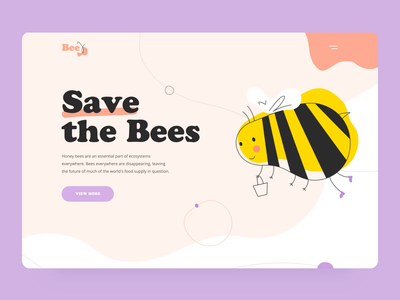 Save the Bees landing interaction