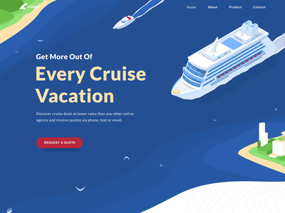 Cruise landing web site interaction