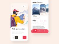 Mountain trip time iOS app design