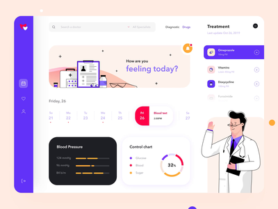 Medicine dashboard design interaction