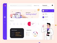 Medicine dashboard design interaction