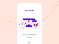 Animated Medicine onboarding mobile screens