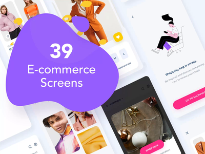 Clother e-commerce UI mobile KIT download store move illustrations aftereffects ae interaction animation motion design ecommerce app buy download illustration android motion kit mobile animation typography design ux ui