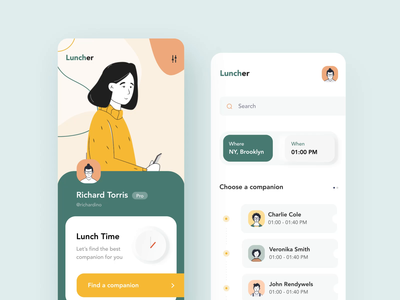 Luncher app interaction