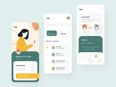 Luncher app interaction application app android ios interactive gif interaction illustration motion mobile animation ux ui