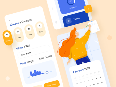 Goals and Wishes ios mobile app