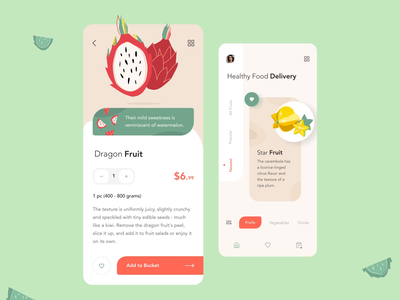 Healthy food iphonex ux clean mobile design app motion design gif interaction fruit motions animations mobile ui illustration motion ios button mobile animation design ui