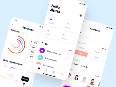 Daily statistic mobile dashboard chart graphic data statistic ux button minimal android mobile ios design ui