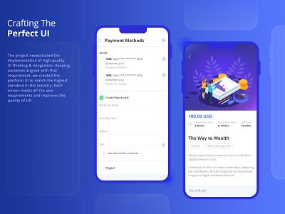 A Virtual Learning Platform design ui ux branding