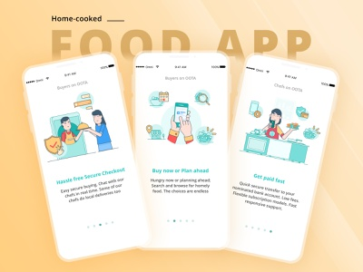 Unique On-Demand Food Delivery Application For Food-Lovers food app app ui ux application design mobileapp