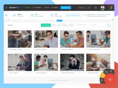 Enterprise SaaS Application illustration branding app clean design ux ui recording video
