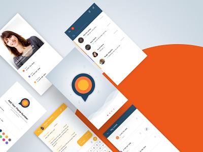 Chat App logo chat clean design ux ui app