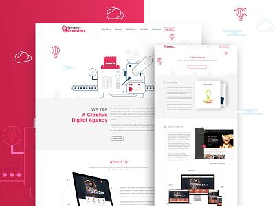 Creative Digital Agency app mobile clean logo application web digital creative