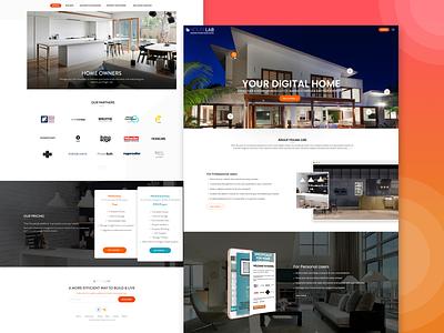 Real Estate Web Application illustration ux ui design application
