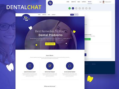 Digital Healthcare Platform doctor app medical care medical app dental care dental modern clean app branding chat health care typography illustration ux application ui
